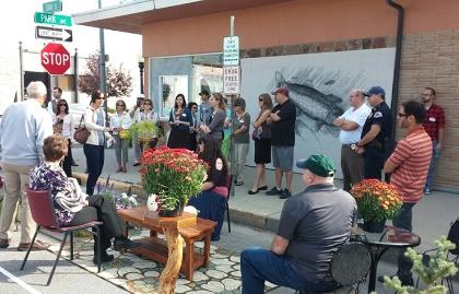 A parklet demonstration in Anaconda, Montana