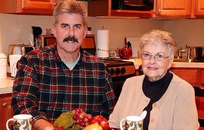 Builder Vince Butler and his mother, Patricia.