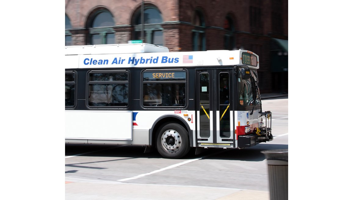 Hybrid City Bus, Challenges For Hearing And Visually Impaired, Livable Communities