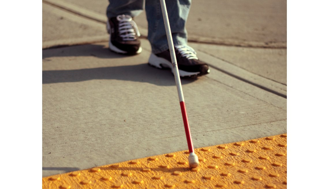 Sidewalk For Handicapped, Visually Impaired, Blind Person, Livable Communities