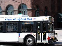 A hybrid bus.