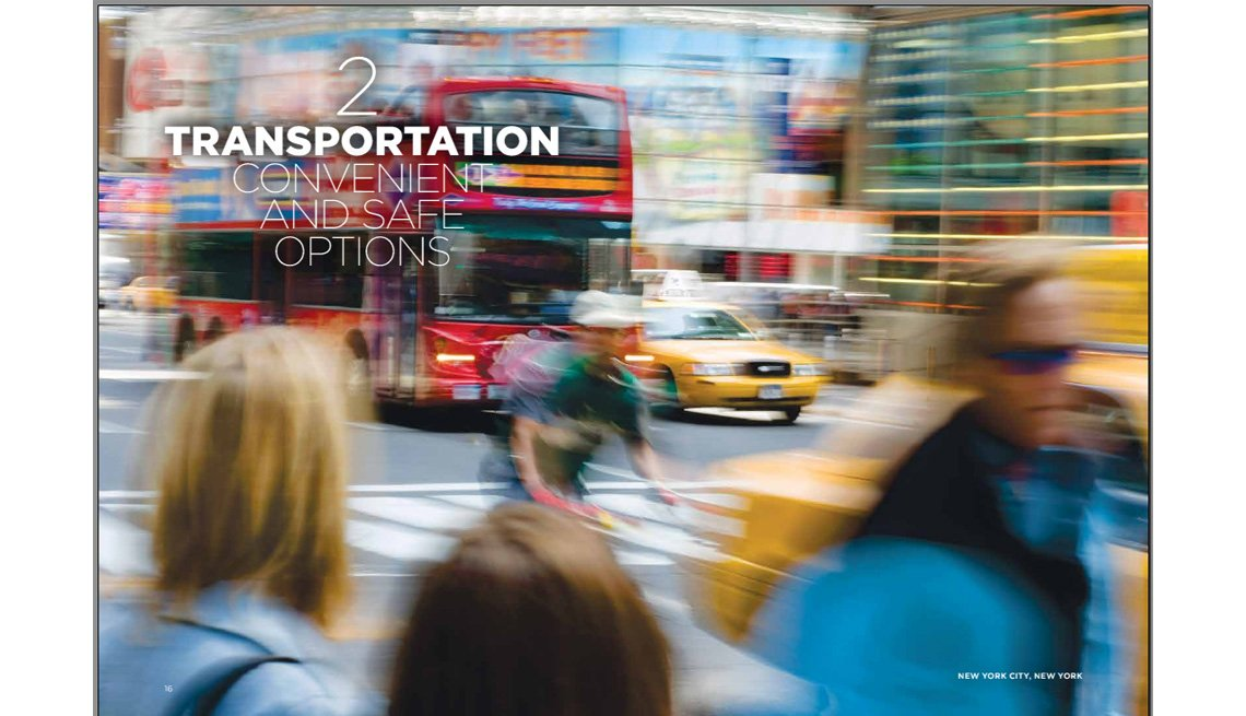 Motion Blur, People In Foreground, Taxis, Man On Bicycle And Buses Whiz By In City Traffic In Background, Transportation, Where We Live, Livable Communities