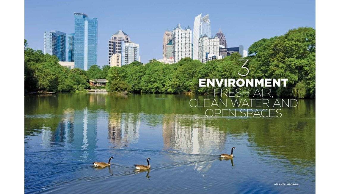 Lake With Geese, Tree Lined, Cityscape In Background, Daylight, Environment, Protecting Our Natural Resources, Livable Communities