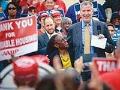 New York City Mayor Bill de Blasio at an affordable housing rally