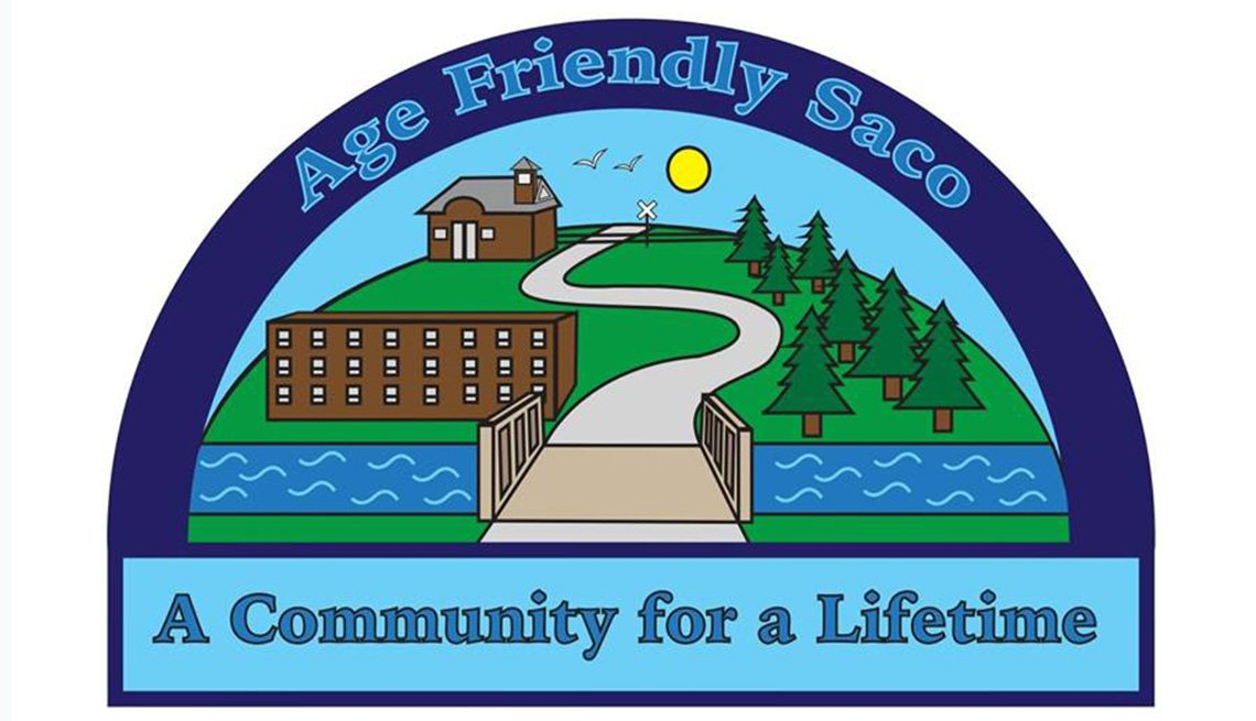 Logo for Age Friendly Saco in Maine