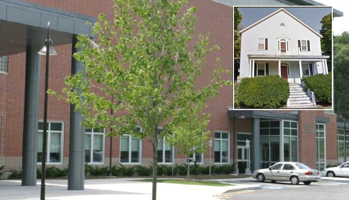 The original and the new Swampscott Senior Center