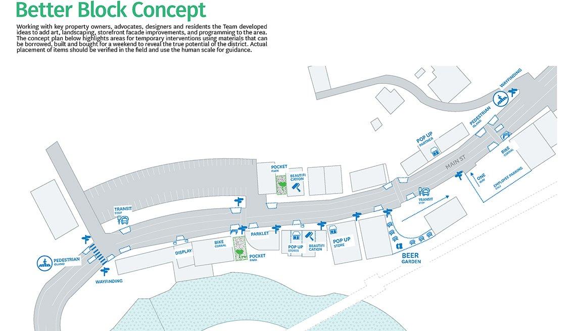A Better Block plan maps the Bethel Better Block project.