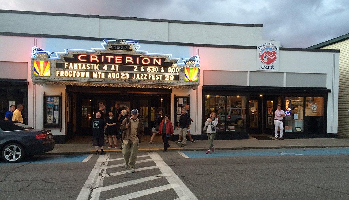 Movie theater in Bar Harbor, Maine