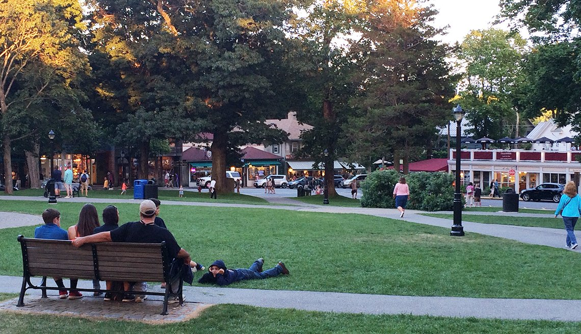 Village Green in Bar Harbor, Maine