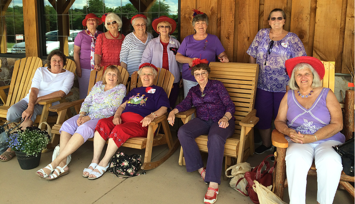 Members of a Red Hat Ladies chapter in central Virginia