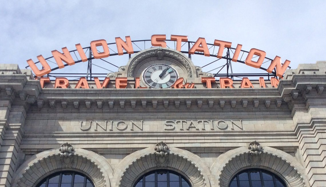The sign outside Denver's historic Union Station