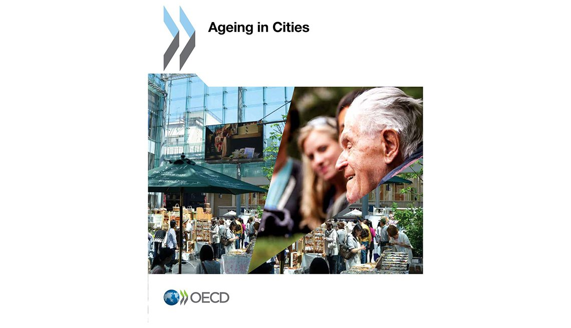Cover image of the Ageing in Cities report