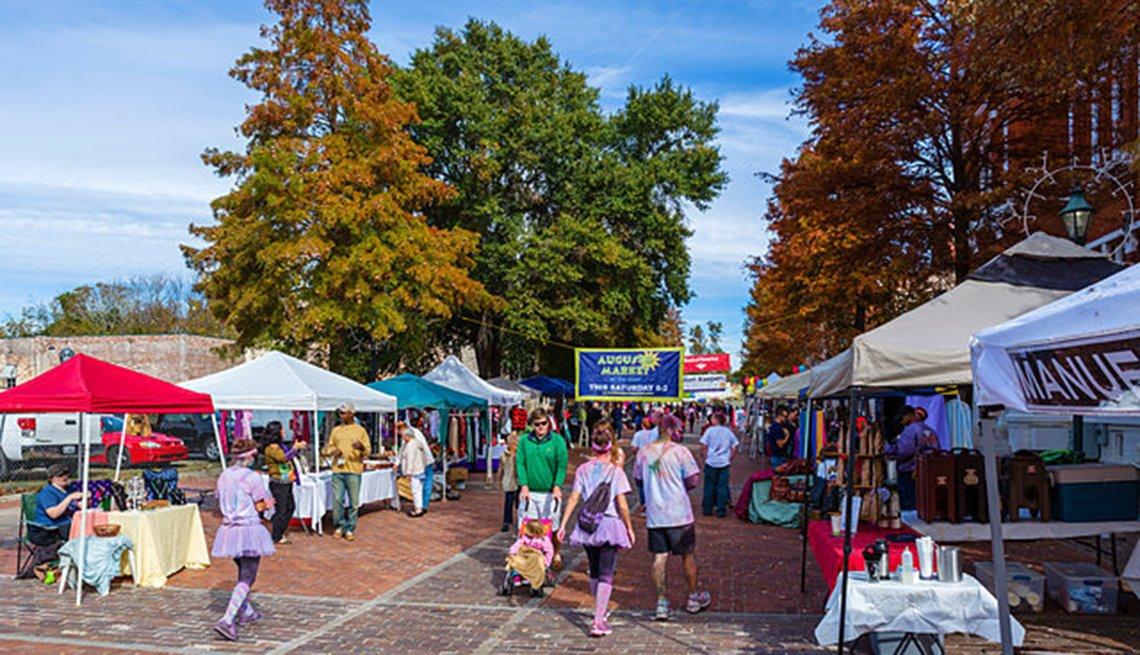 Augusta Georgia, market, shoppers, Network of Age-Friendly, AARP Livable Communities