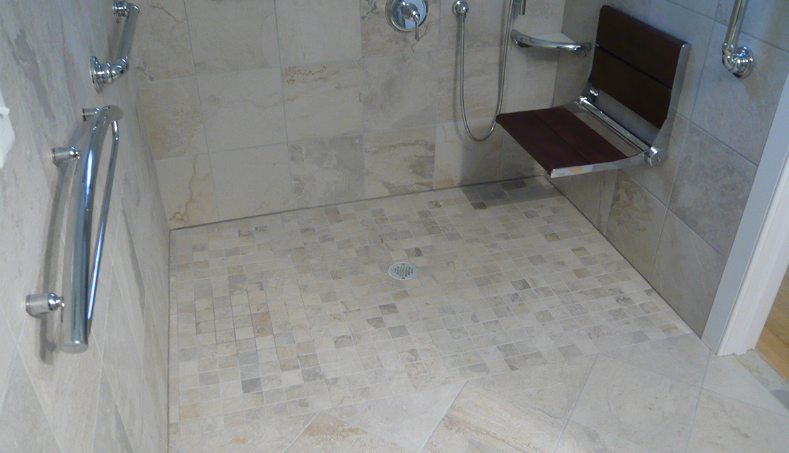 Curbless shower stall, Walk in Shower, 'Aging Friendly' Improvements for Most Every Home Remodeling Project