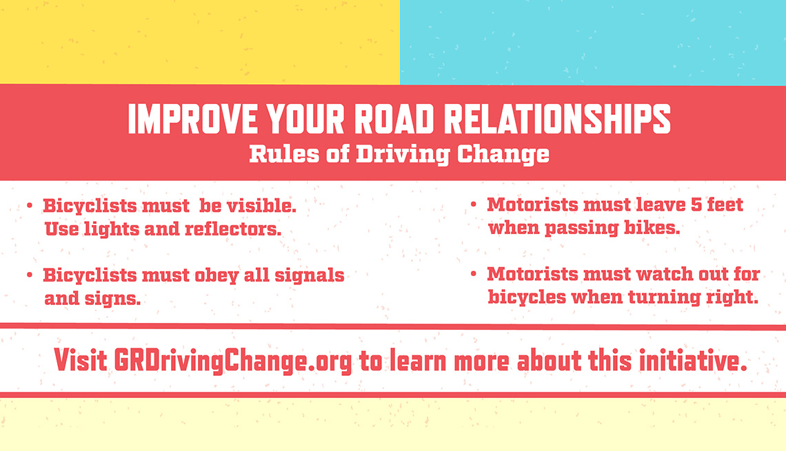 The Driving Change initiative came up with four simple rules for drivers and bicyclists