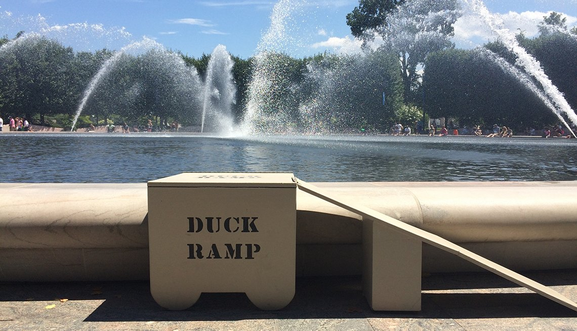 Duck Ramp, fountain, Washington, D.C., Signs that Say So Much