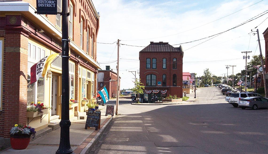 Water Street in Eastport, Maine