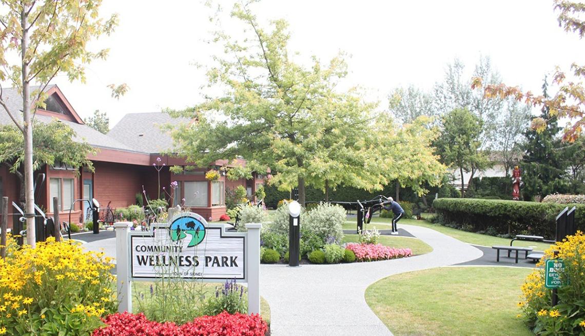 Wellness Park sign