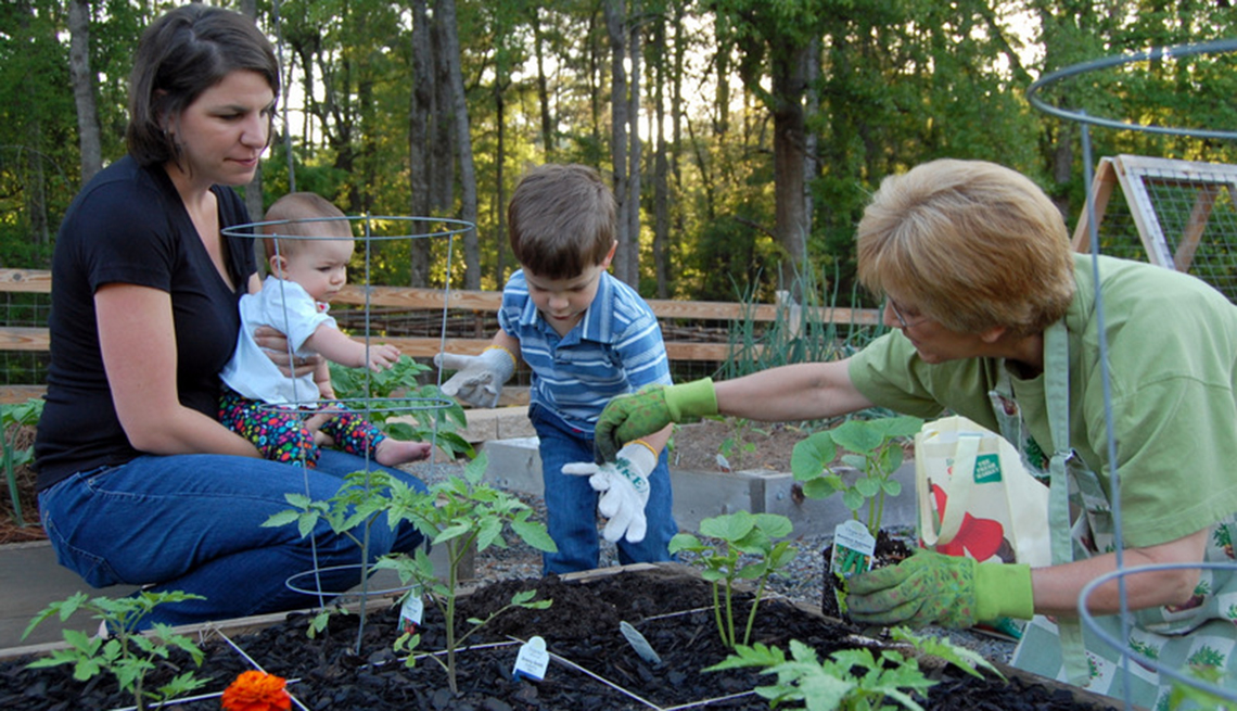Community gardening for family and friends and all ages