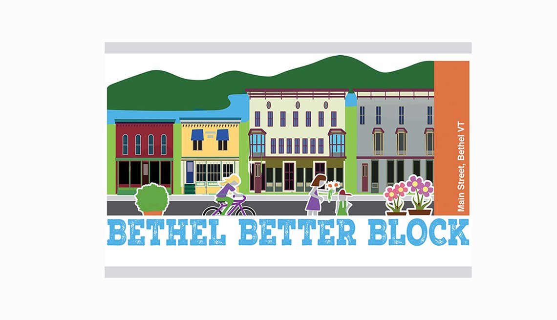 Bethel Better Block Logo, AARP Livable Communities, Tool Kits and How To's, Pop-up