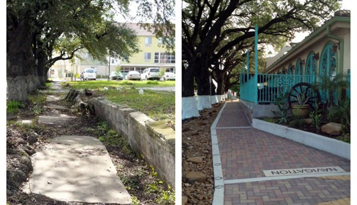 renovation project in Houston, before and after