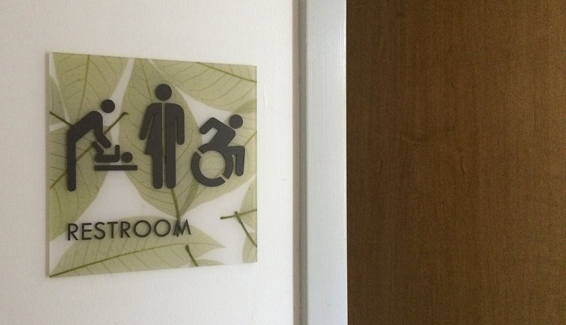 Inclusive Restroom sign,  Frick Environmental Center, Pittsburgh, Signs that Say So Much