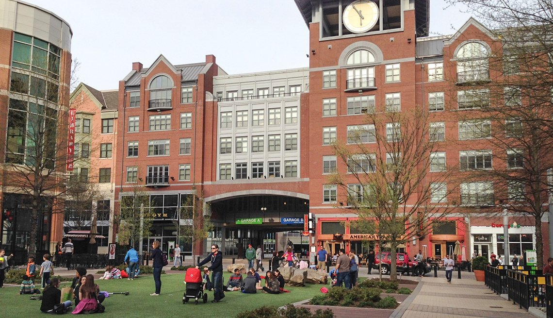 Outdoor Space, Plaza, Rockville, Md., AARP Livable Communities, The Livability Economy