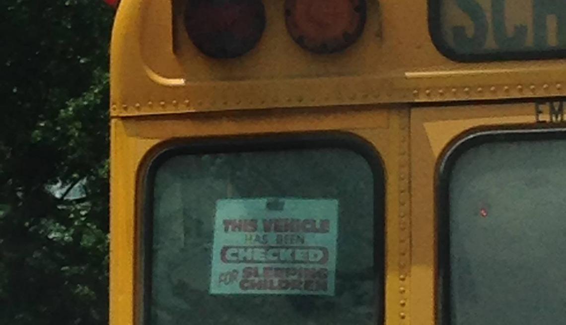 School bus, sleeping children, Signs that Say So Much