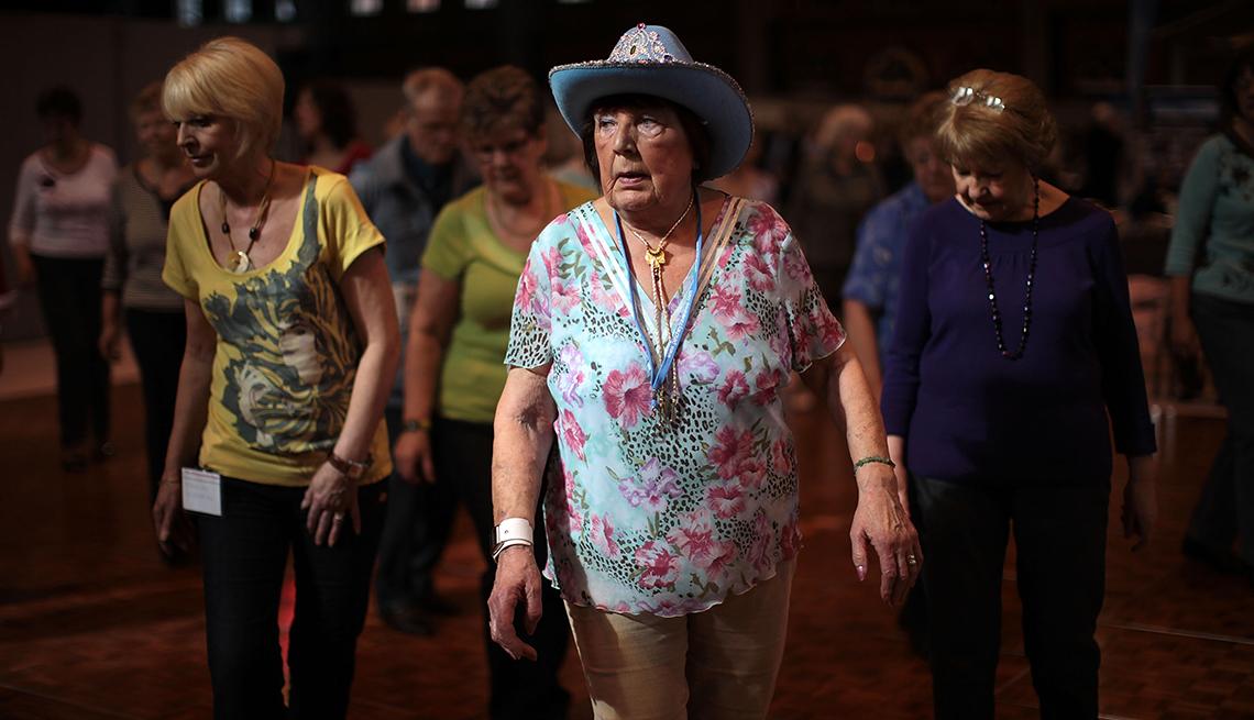 Seniors keep fit, Manchester, England, AARP Livable Communities, Age Friendly