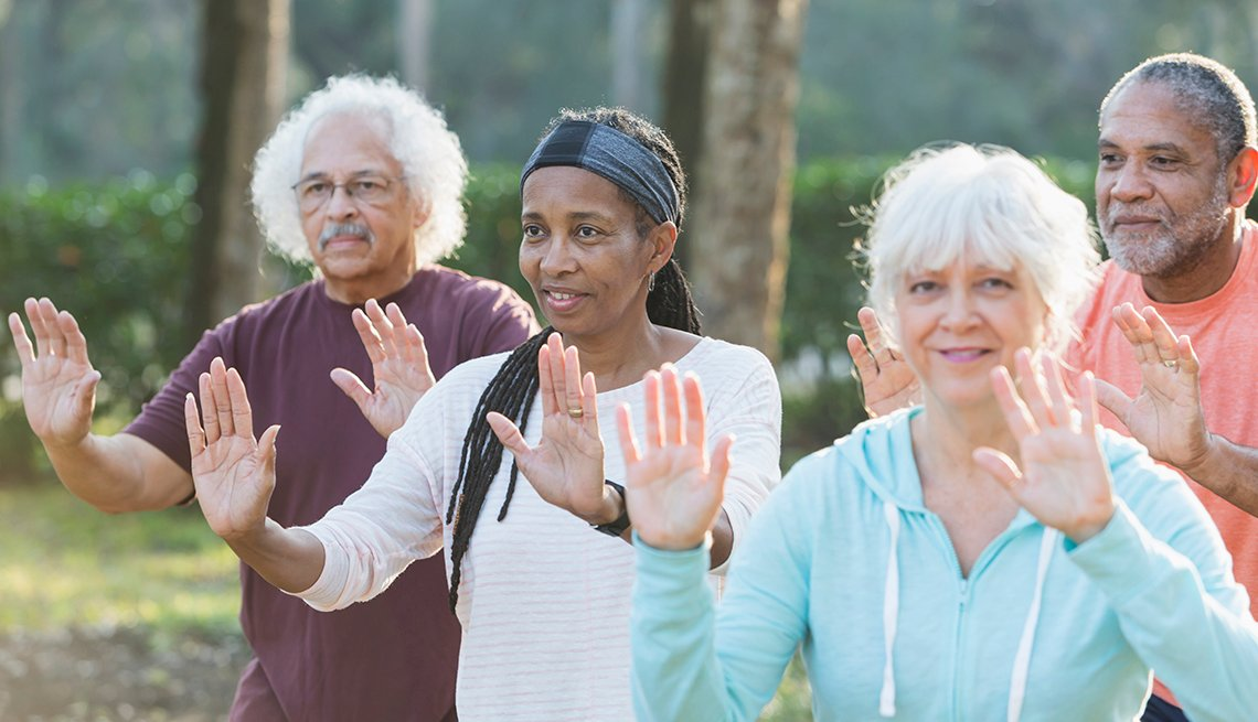 Tai Chi outdoors, Age Friendly Communties, AARP Livable Communities