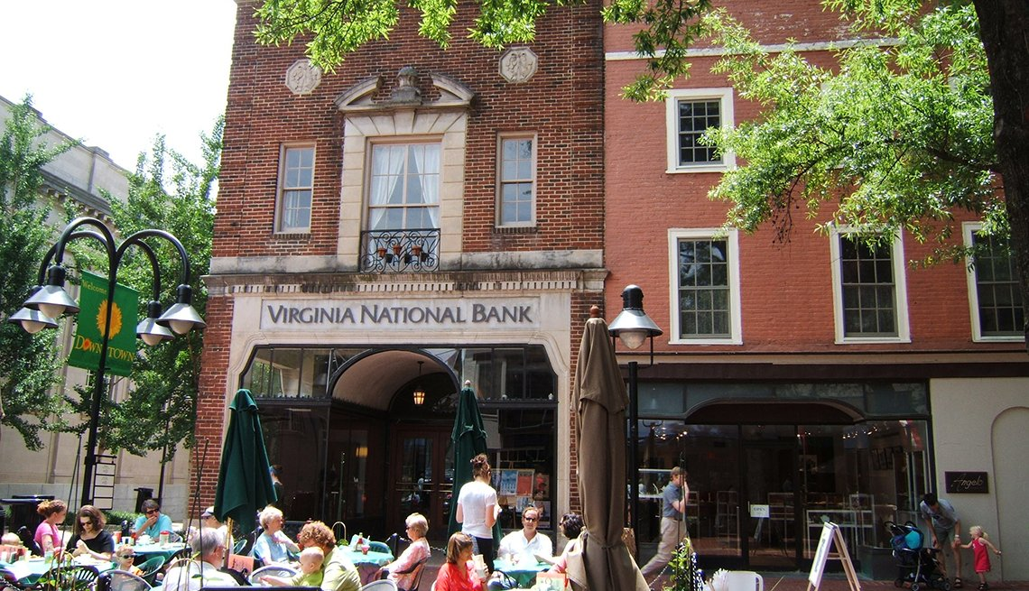Sidewalks can be destinations, such as on E. Main Street in Charlottesville, Virginia