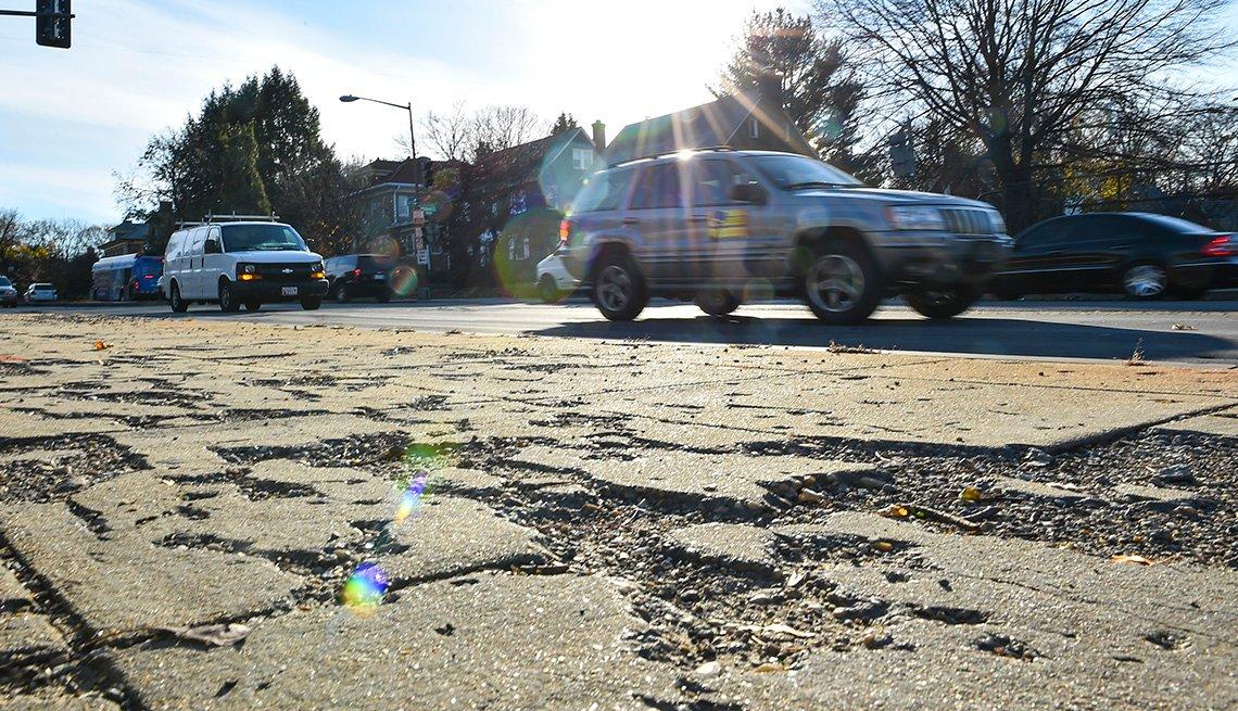Crumbled Sidewalk, Walkable Communites, AARP Livable Communites