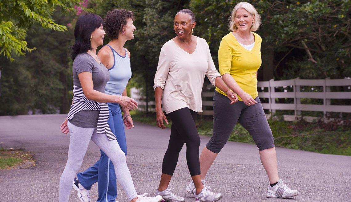 Women walking outdoors, AARP Livable Communites, Public Health