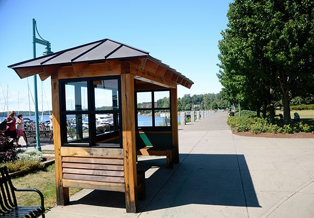 Bus shelter, Livable Communities.