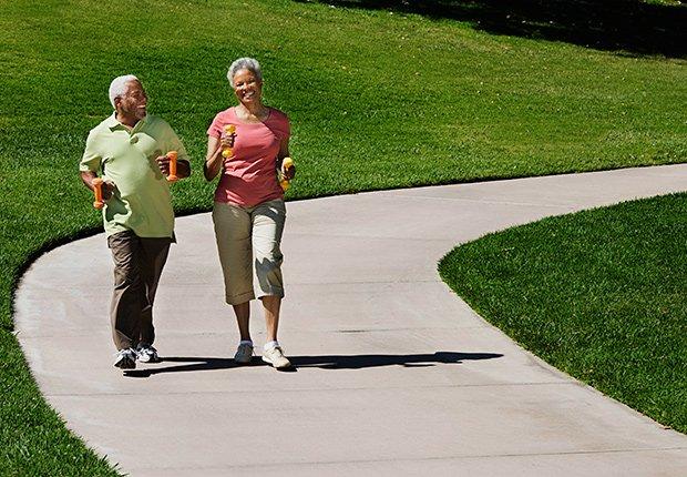 Couple jogging, Livable Communities.