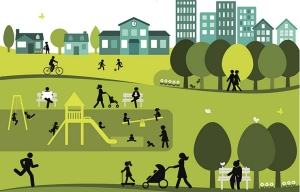 Illustration showing all ages in a community. Credit: Getty Images