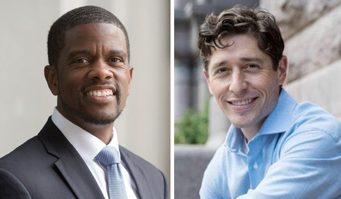 Saint Paul Mayor Melvin Carter III and Minneapolis Mayor Jacob Frey