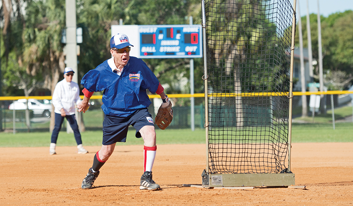 A pitcher at a Kids and Kubs softball game