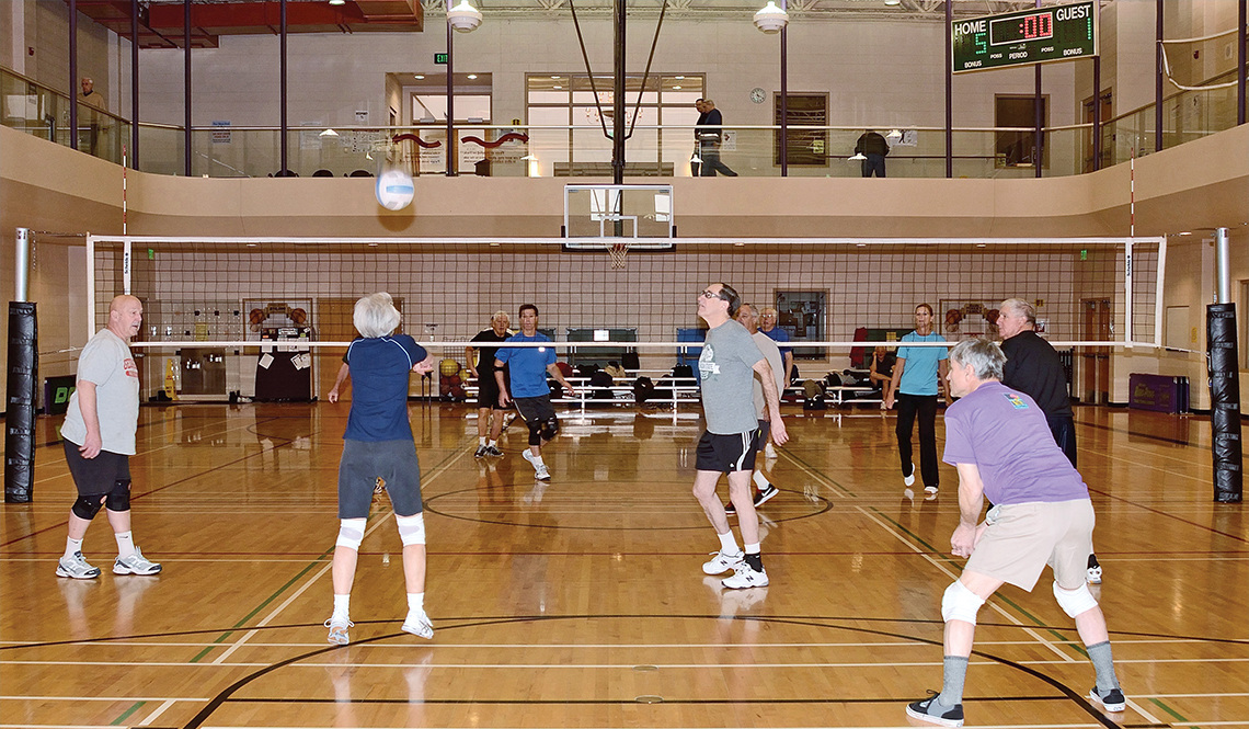 Volleyball at the Older Persons' Commission fitness center in Rochester, Minnesota