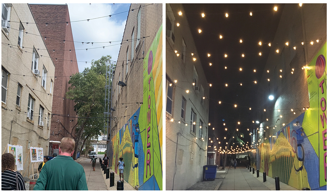 Images of Revitalized Alley in Upper Darby Pennsylvania