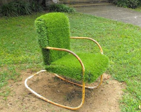 A Lawn Chair on Yard Art Day in Charlotte North Carolina