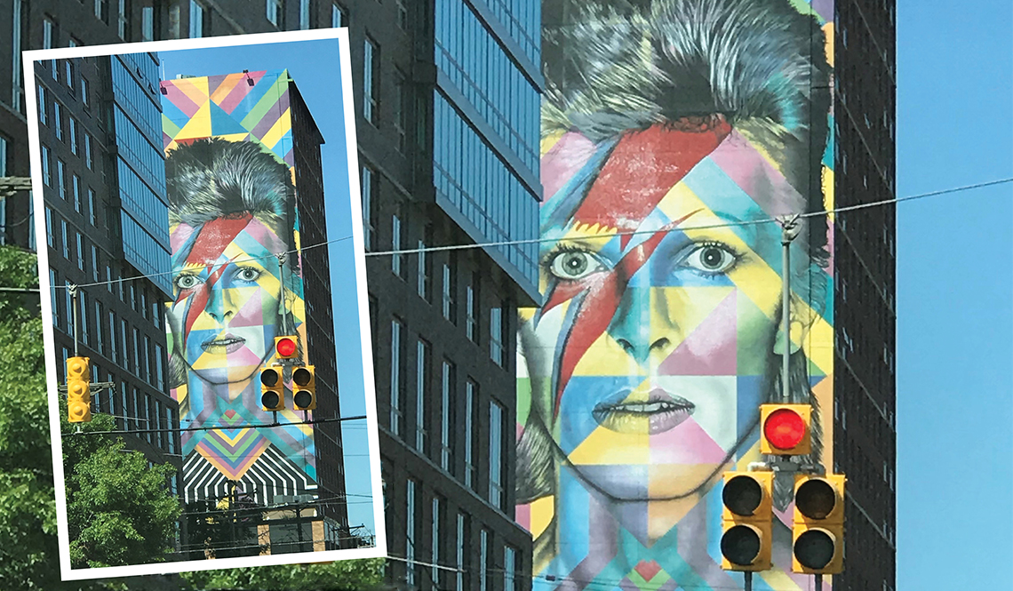 Mural of David Bowie, Jersey City, New Jersey