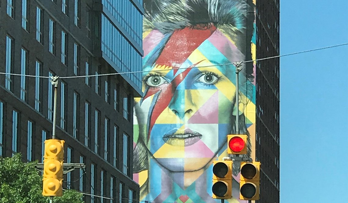 David Bowie tribute mural