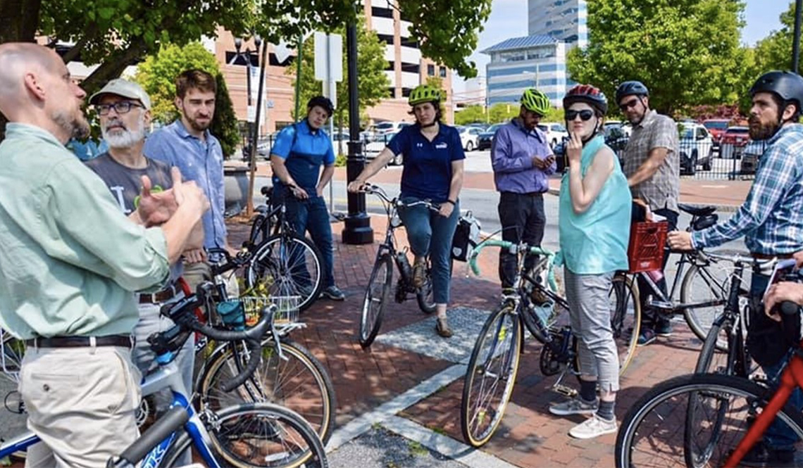A gathering of bicyclists in Delaware