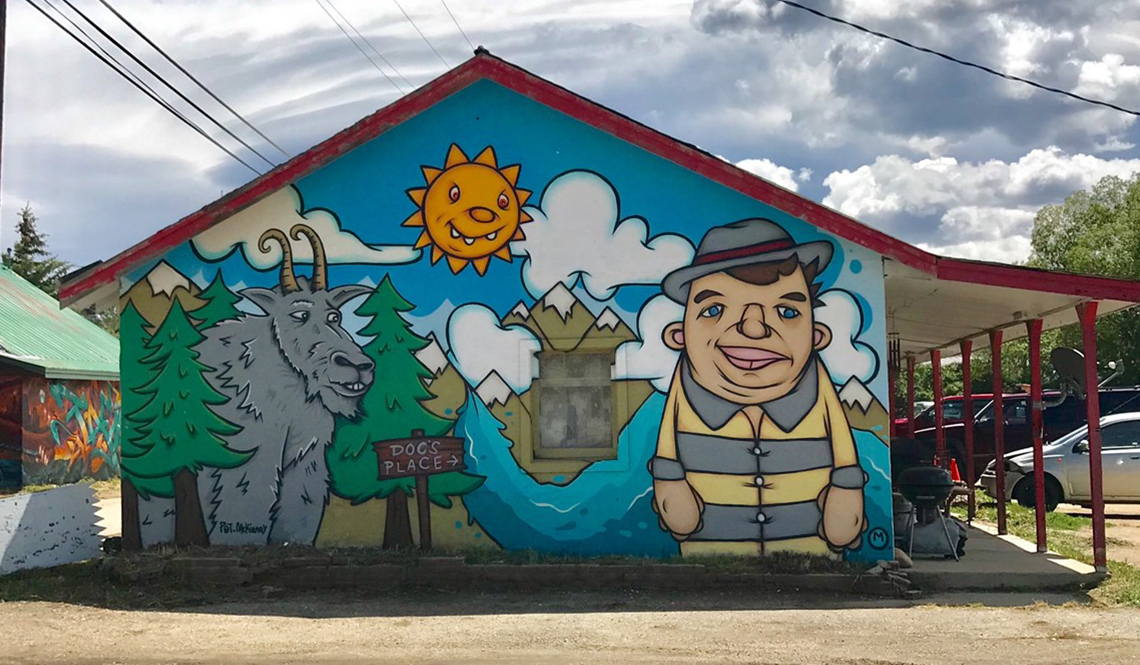 A mural by RKY MTN Walls