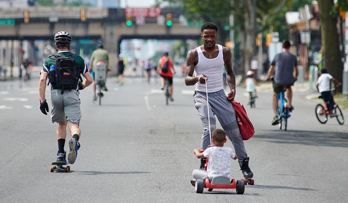 A scene from a Philly Free Streets event