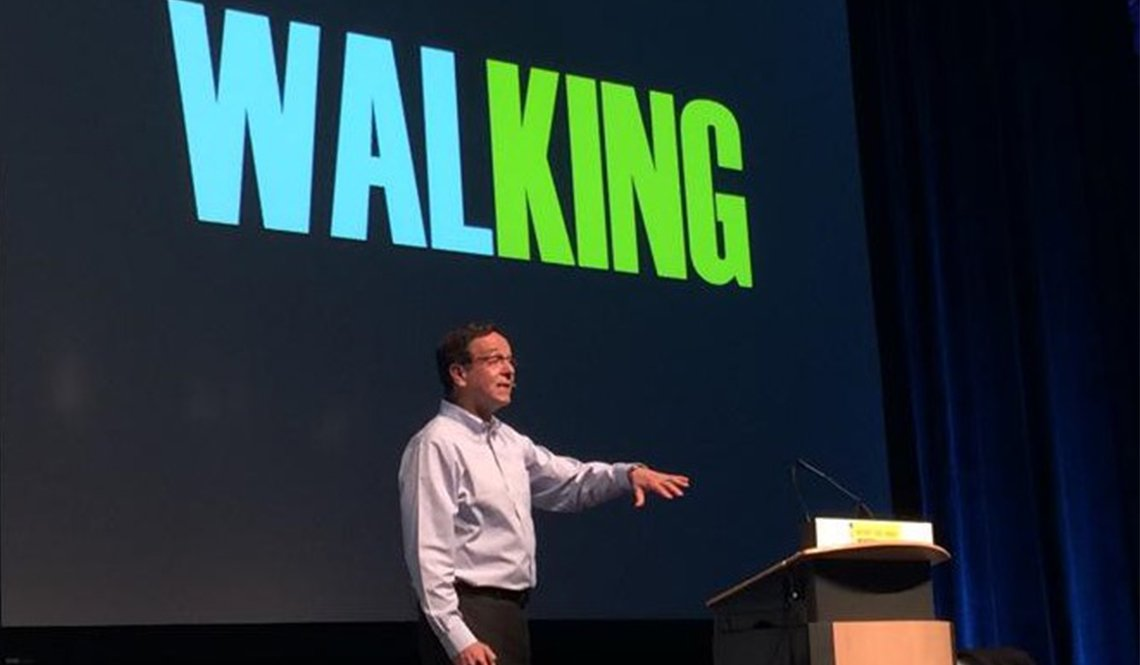 Gil Penalosa presenting about walking