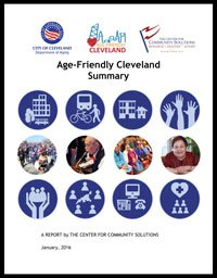 The cover of the Cleveland Age-Friendly Action Plan