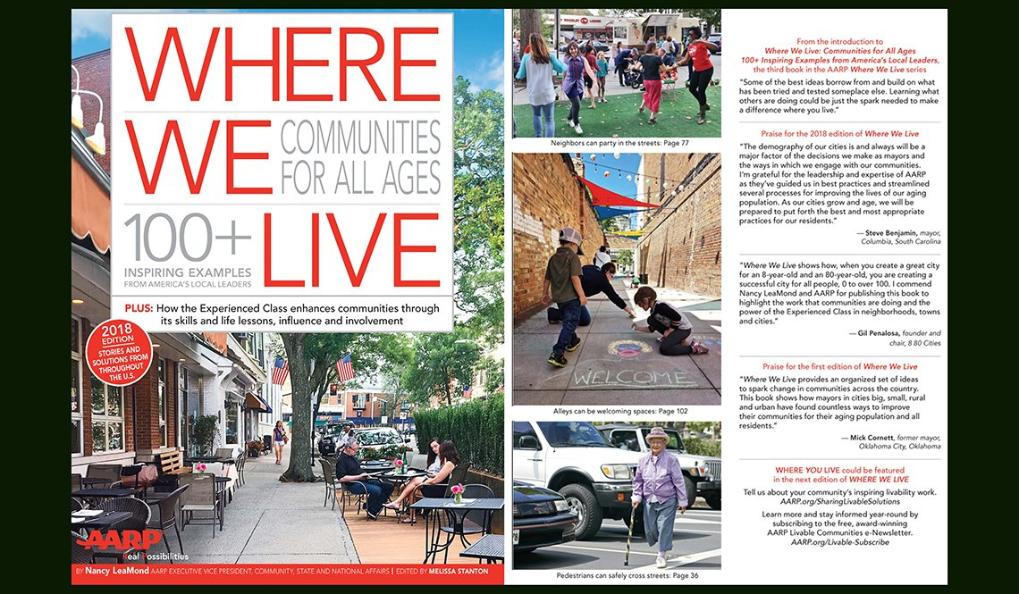 Front and back covers of the 2018 edition of Where We Live