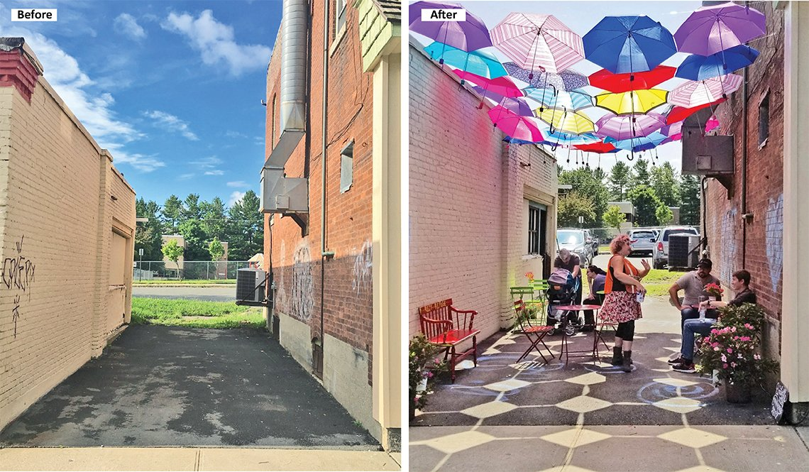 An alleyway transformation in Pittsfield, Massachusetts